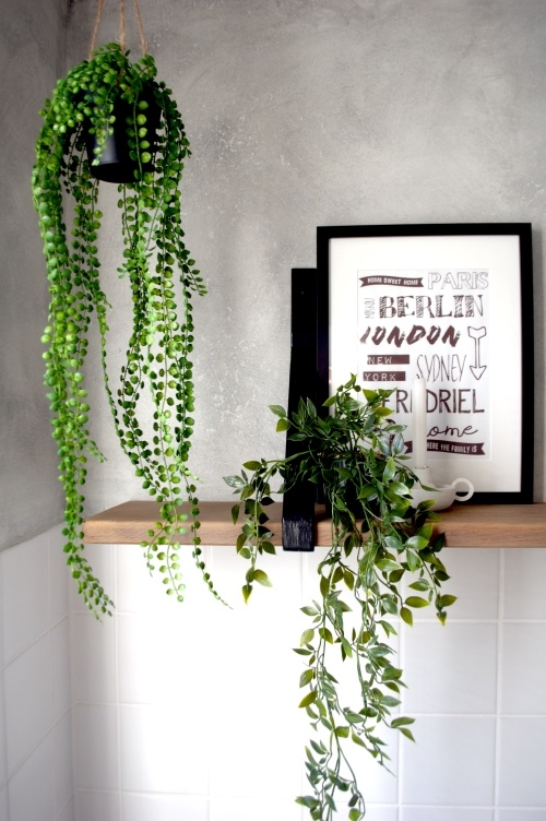 kunstplant, hangplant, nepplant, badkamer