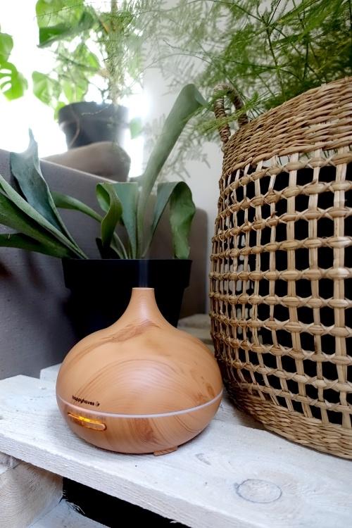 luchtbevochtiger, aroma diffuser, herfst verzorgingstips, kamerplanten